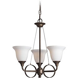 Woodbridge Lighting Fall River 3-light Oil Rubbed Bronze Chandelier