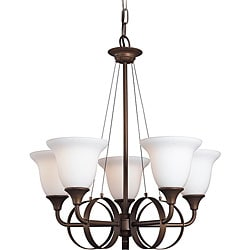 Woodbridge Lighting Fall River 5-light Oil Rubbed Bronze Chandelier