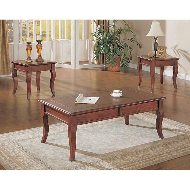 Walnut 3-piece Occasional Table Set
