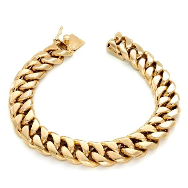 Sterling Essentials 14k Gold over Bronze 18-inch Cuban Link Necklace