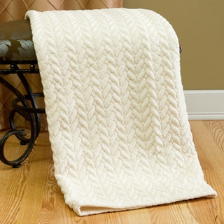 Aurora Home Quilted Cable Micro Mink Throw