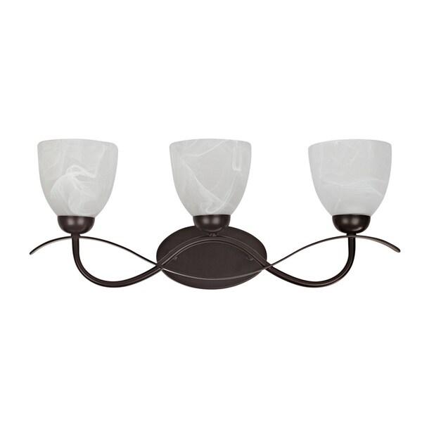 Chloe Transitional 3-light Dark Rubbed Bronze Bath/ Vanity Light