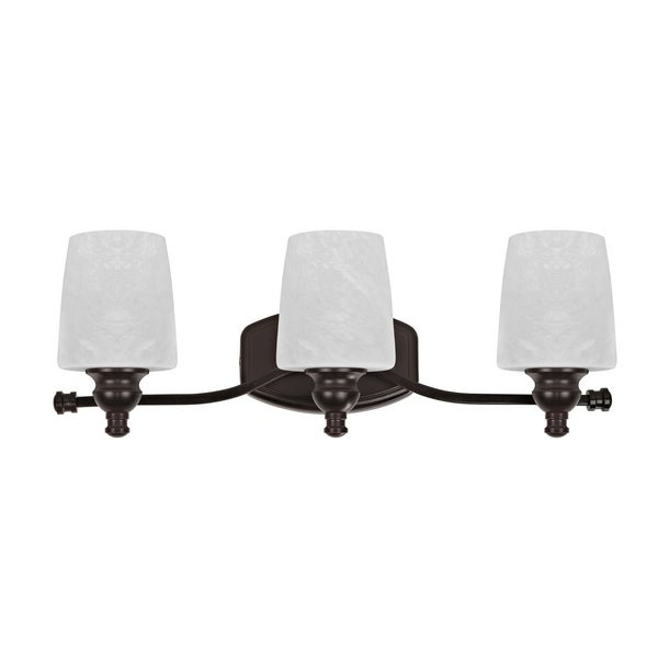 Chloe Transitional 3-light Dark Rubbed Bronze Bath/ Vanity
