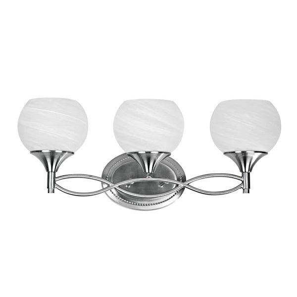 Chloe Transitional 3-light Brushed Nickel Bath/ Vanity Light