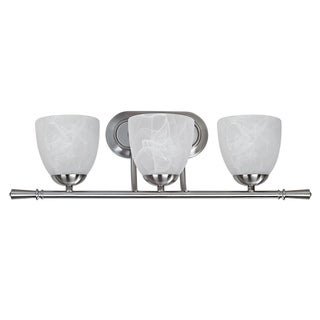 Transitional 3-light Brushed Nickel Bath Bar