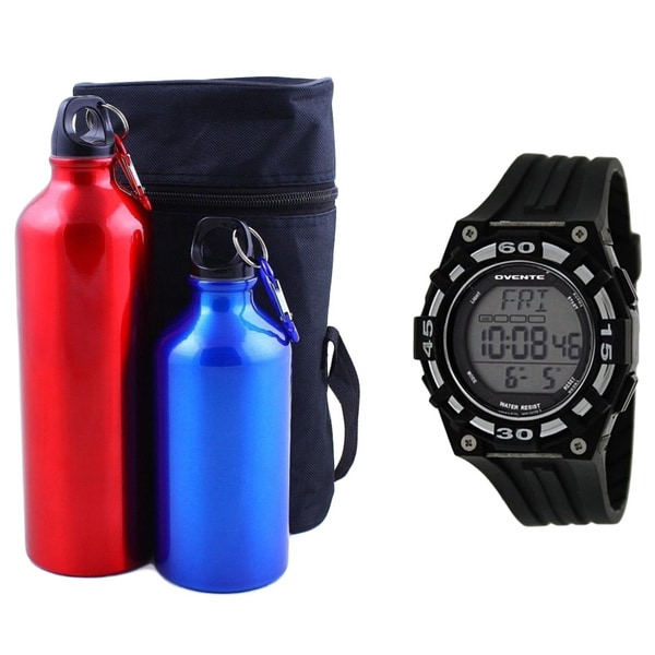 Beatech Heart Rate Monitor with Aluminum Camping Bottle Set