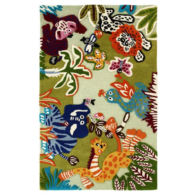 nuLOOM Handmade Kids Jungle New Zealand Wool Rug (5' x 8')
