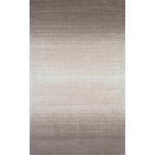 Manhattan Ombre Taupe Hand-Loomed Wool Rug (2'3 x 3'9)