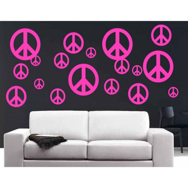 Vinyl 'Peace Signs' 40-piece Wall Decal Set
