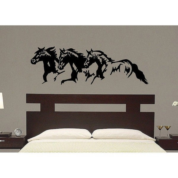 Vinyl Trio Horse Wall Decal Free Shipping On Orders Over - Wall decals horses
