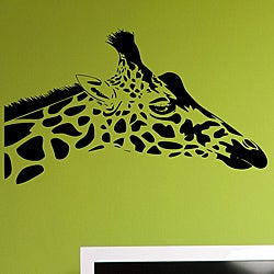 Vinyl 'Giraffe Head' Wall Decal Set