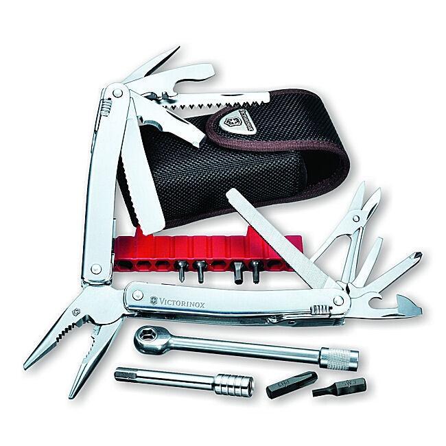 Victorinox Swiss Army SwissTool Spirit Plus Ratchet Swiss Army Knife and Pouch Set