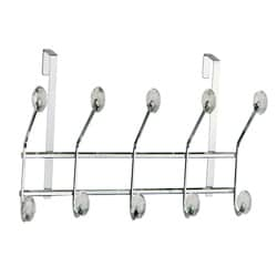 Over-the-door Chrome 10 Acrylic Jewel Ball Hooks by Elegant Home Fashions - Thumbnail 0