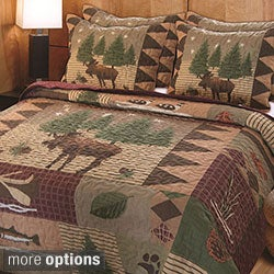 Greenland Home Fashions Moose Lodge 3-piece Quilt Set (2 options available)