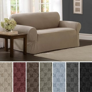 "Maytex Stretch Pixel 1 Piece Loveseat Furniture / Slipcover - 34""h x 38""d x 58-73""w"