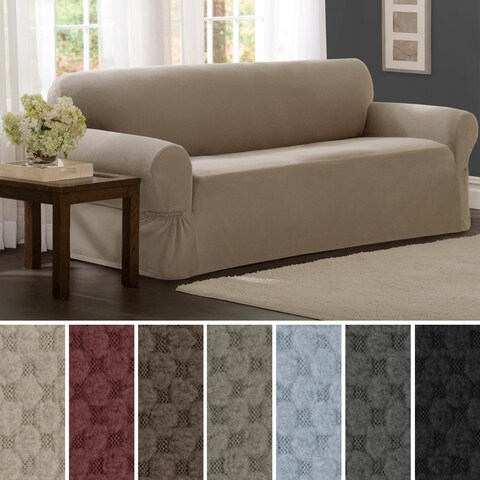 Maytex Stretch Pixel 1 Piece Sofa Furniture / Slipcover