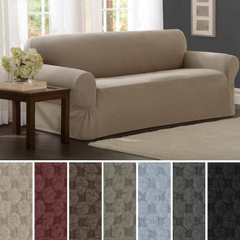 Maytex Stretch Pixel 1 Piece Sofa Furniture / Slipcover