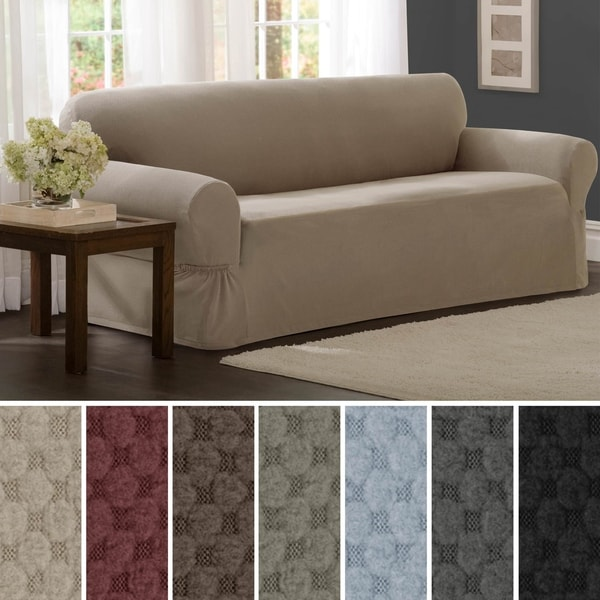 Maytex Stretch Pixel 1 Piece Sofa Furniture / Slipcover. Opens flyout.