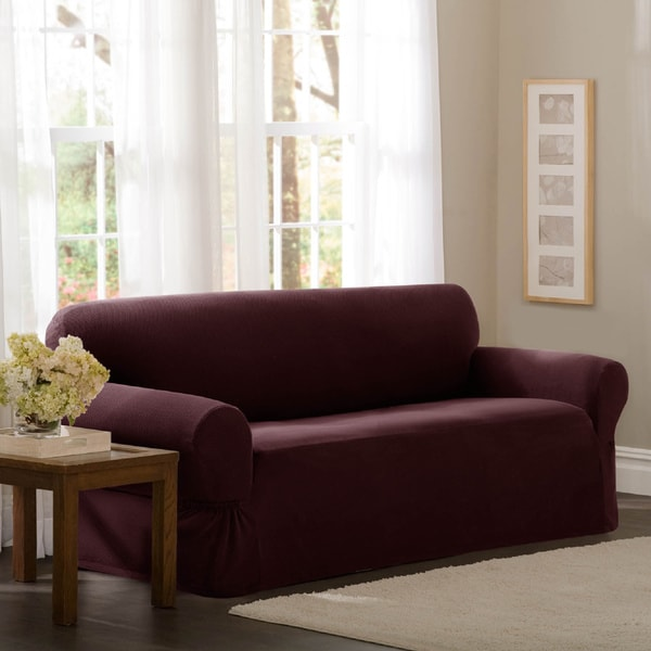 Maytex Stretch Pixel 1-piece Sofa Slipcover