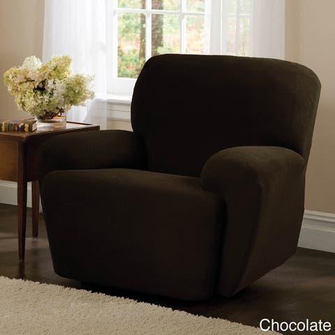 Maytex Stretch Pixel 4 Piece Recliner Furniture Slipcover