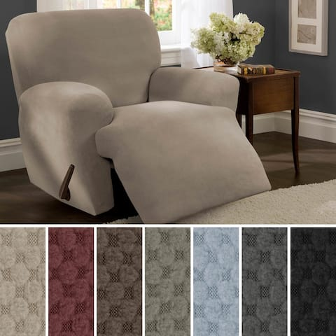 Maytex Stretch Pixel 4 Piece Recliner Furniture Slipcover