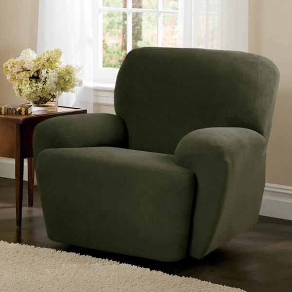Maytex Stretch Pixel 4-piece Recliner Slipcover