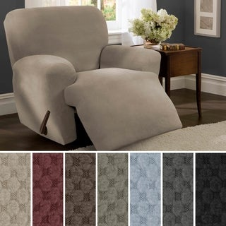 "Maytex Stretch Pixel 4 Piece Recliner Furniture Slipcover - 30-40"" wide/37"" high/38"" deep"