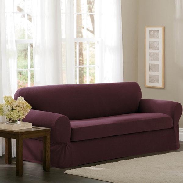 Maytex Stretch Pixel 2 Piece Loveseat Furniture / Slipcover