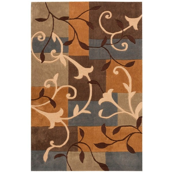 Nourison Hand-Tufted Contours Multicolor Polyester Rug - 7'3 x 9'3