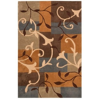"Nourison Hand-Tufted Contours Multicolor Polyester Rug (7'3"" x 9'3"")"
