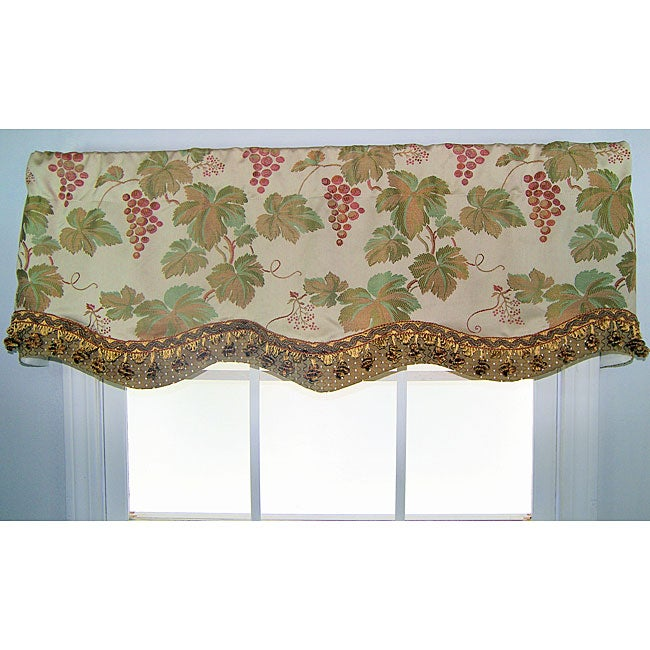 RLF HOME Orvietto Glory Ecru (White) Valance (Ecru) (All ...