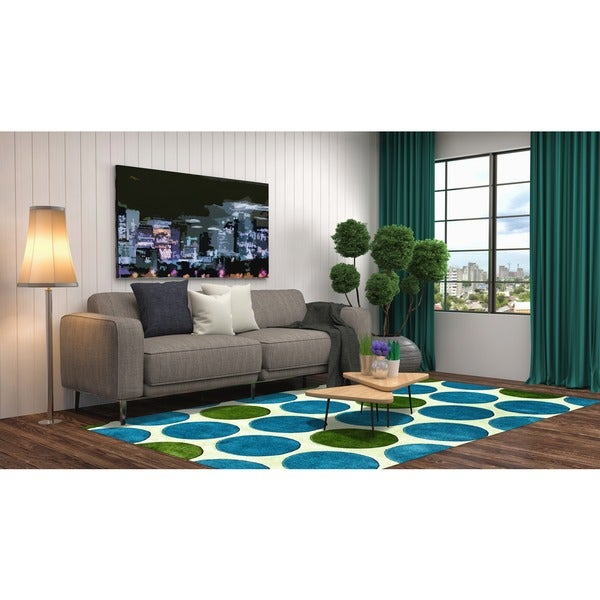 Horizon Hand-made Metro Light Green New Zealand Blend Wool Rug (8 x 10)