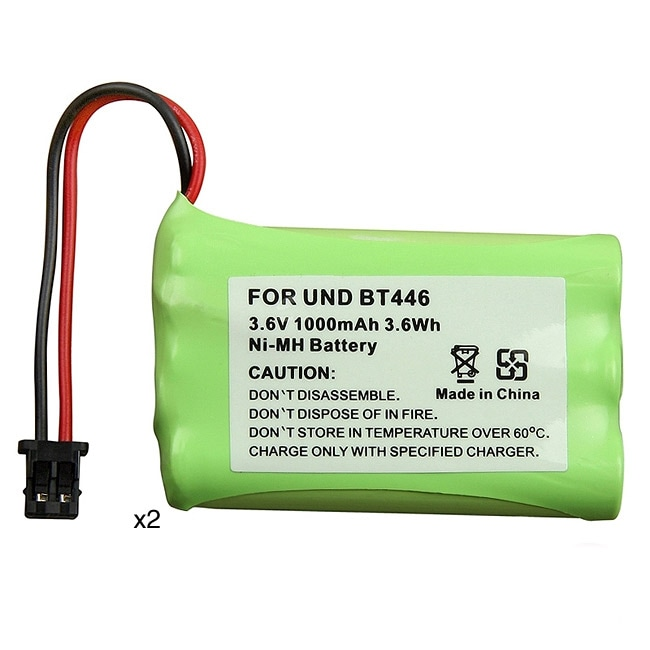 INSTEN Green Ni-MH Battery for Uniden BT-446 Cordless Phone (Pack of 2)