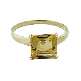 Gioelli 10k Yellow Gold Citrine Solitaire Ring