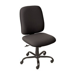 Titan Black High-back Rolling Desk Chair with an Oversized Steel Base