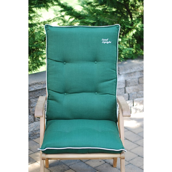 High Back Patio Chair Cushion Set of 2 Free Shipping Today Overstock