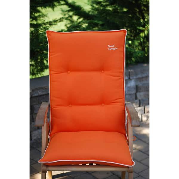 Beige High Back Patio Chair Cushions