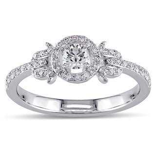 Miadora Signature Collection 14K White Gold 3/8 CT TDW Diamond Ring