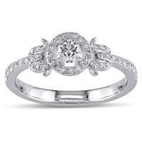 Miadora Signature Collection 14K White Gold 3/8 CT TDW Diamond Ring