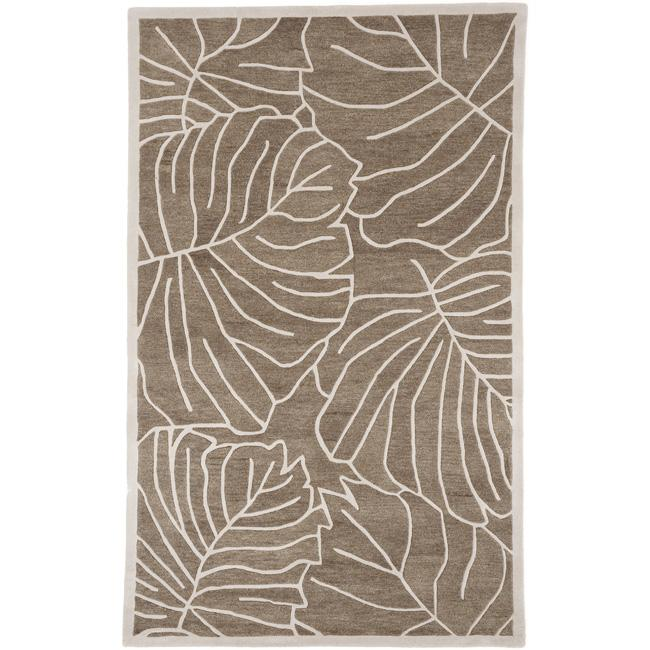 Pine Canopy Bogs Mountain Floral Wool Area Rug - 8' x 11'