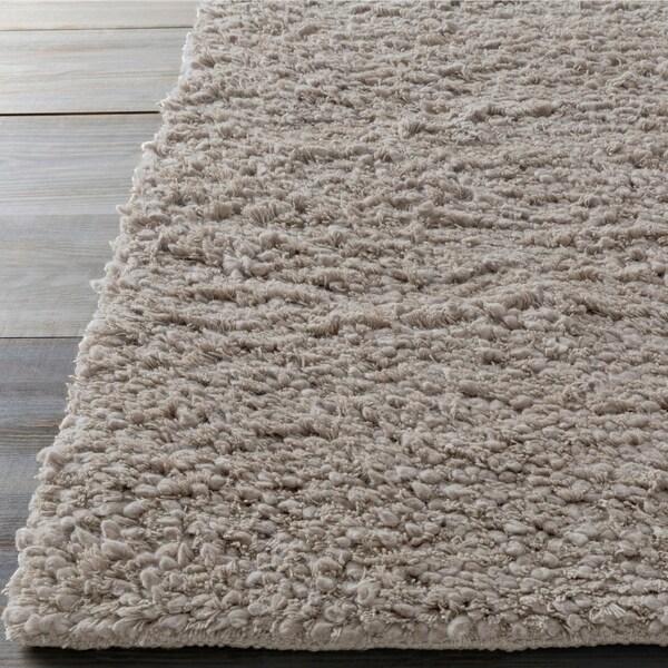 Hand-woven Mesquite Wool Plush Shag Area Rug - 5' x 8'