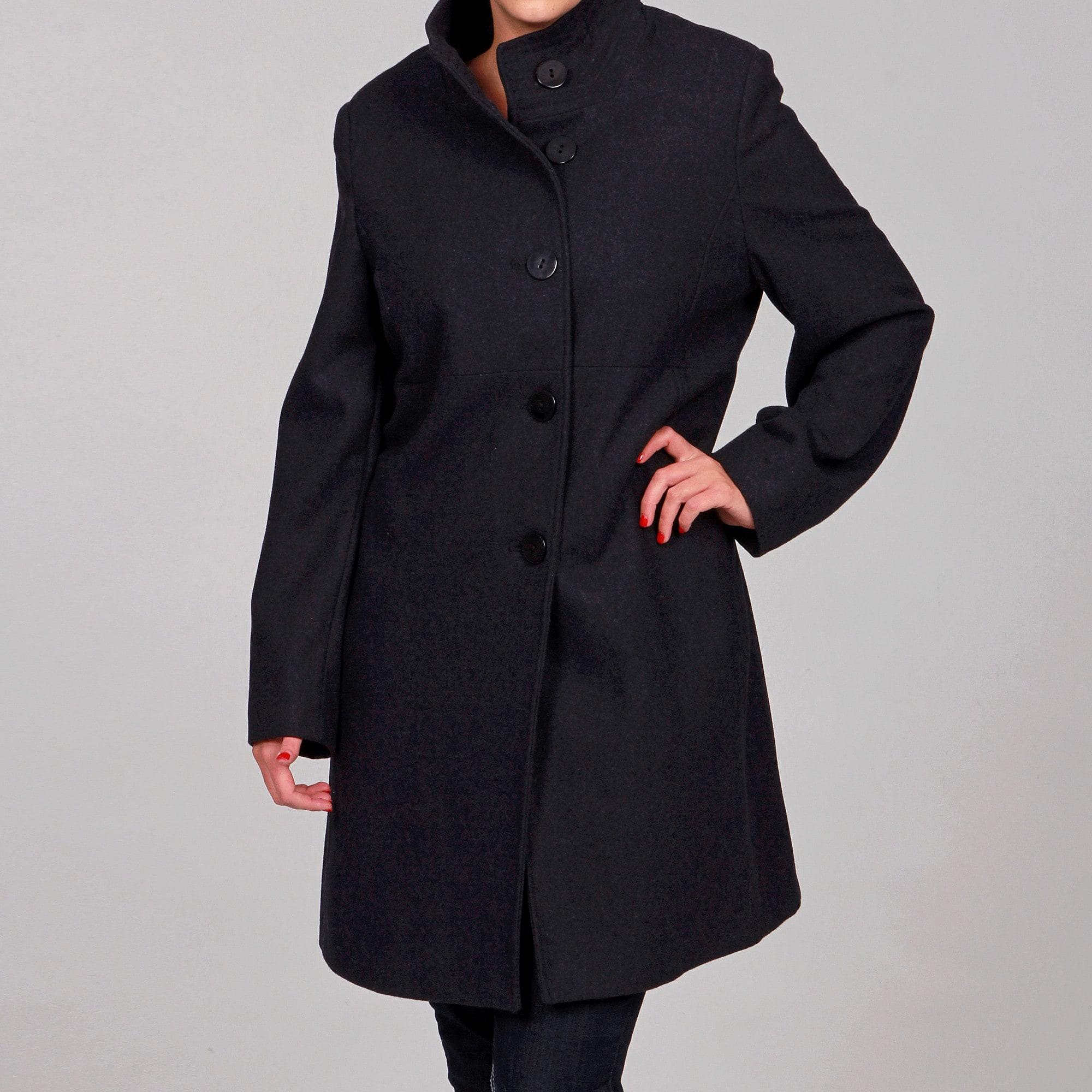 Jones New York Women\'s Plus Size Wool Blend Coat FINAL SALE