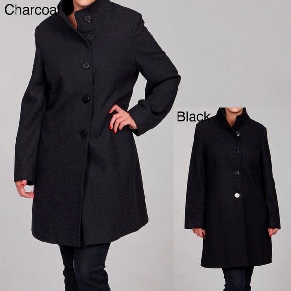 Shop Jones New York Women\'s Plus Size Wool Blend Coat FINAL SALE ...