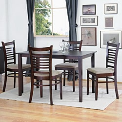 Cathy Brown Wood Modern Dining Chairs (Set of 2)