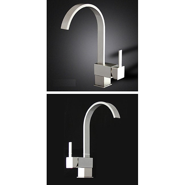 Shop Brushed Nickel Kitchen Swivel Faucet Free Shipping