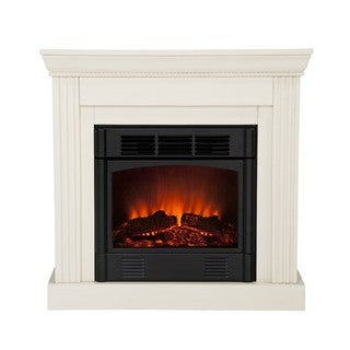 Martel Ivory Convertible Petite Electric Fireplace