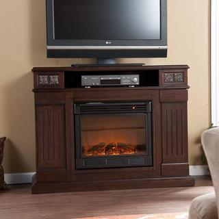 Monarch Espresso Media Console Fireplace