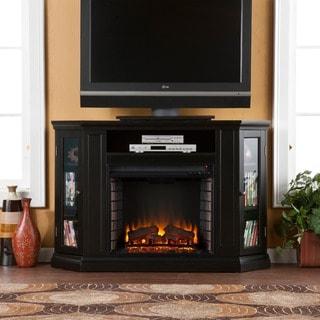 Harper Blvd Claremont Black Media Console Fireplace