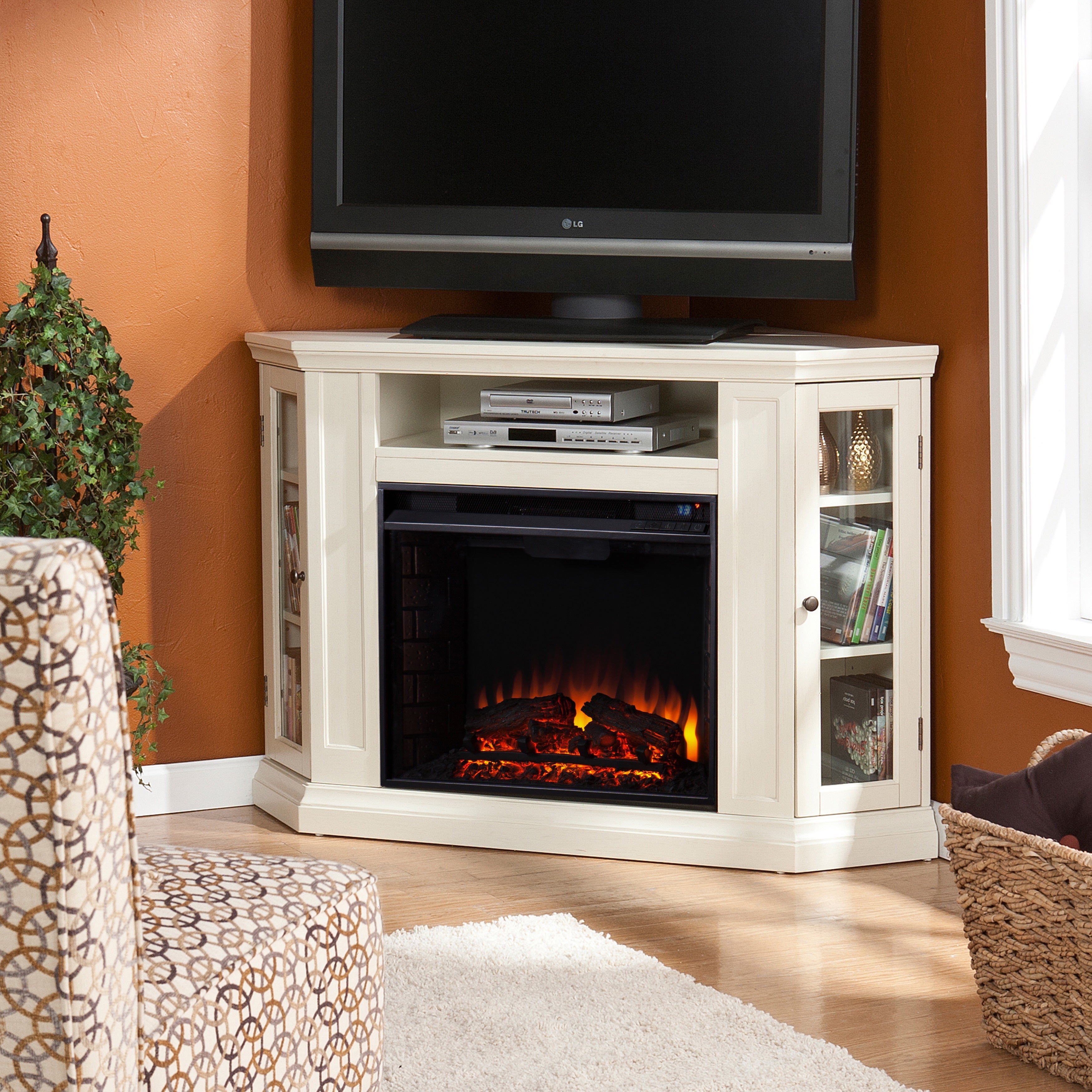 entertainment tv furniture insert with mwd by products stands fireplace hooker console
