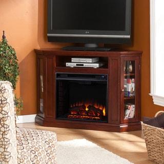 Harper Blvd Belvedere Cherry Media Console Fireplace